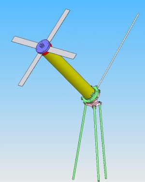 Die X-Wing Omin UHF-Sat-Antenne als 3D-Modell.