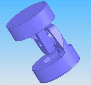 Neu konzipiert: Die Masthalterung ist jetzt schwenkbar ausgelegt. Beide Teile sind durch eine M5-Schraube später verbunden.
