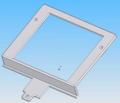 CAD-Modell des Gehäuse-Oberteils.